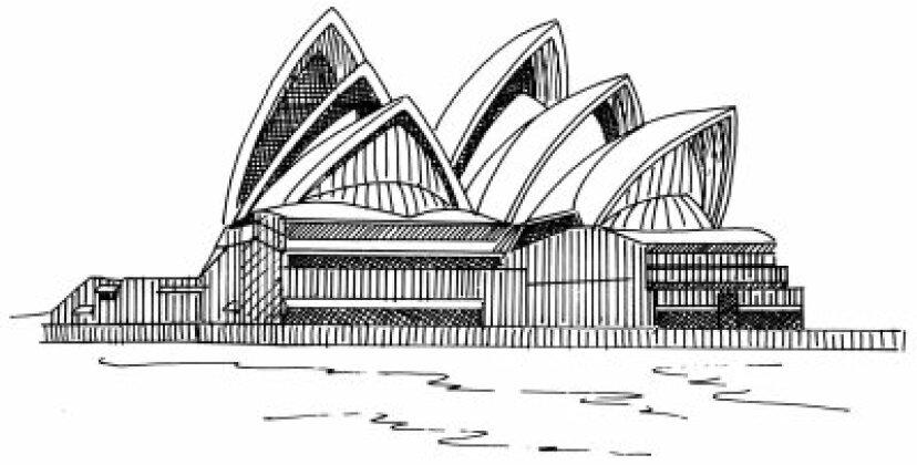 シドニーオペラハウスの描き方