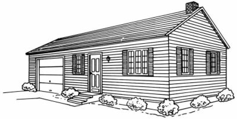 牧場の家の描き方