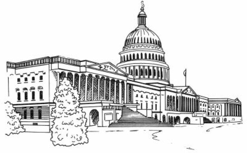 アメリカ合衆国議会議事堂の描き方
