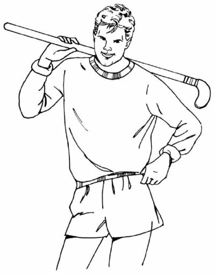 5つのステップでホッケー選手を描く方法