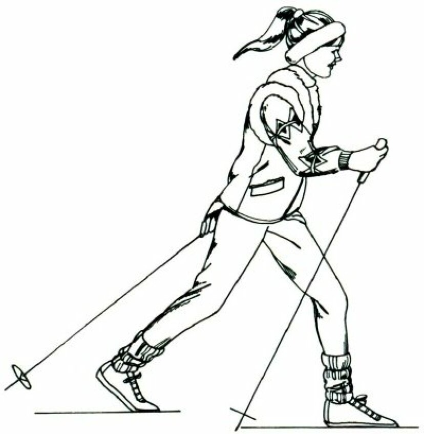 5つのステップでスキーヤーを描く方法