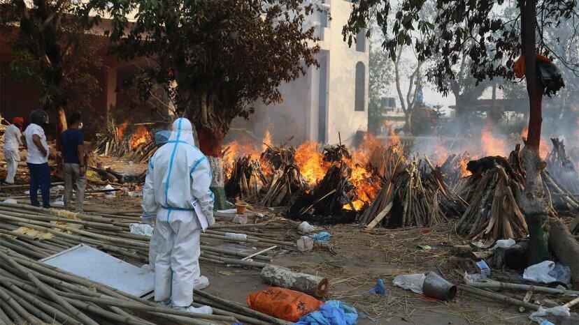 India mass cremation