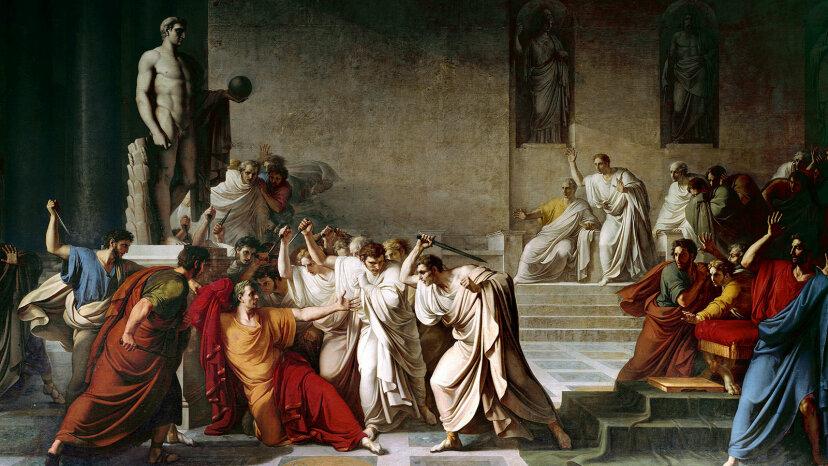 death of Julius Caesar painting