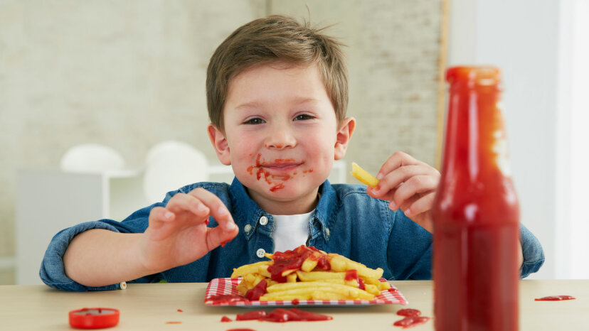 Kids have a special love for ketchup. Westend61/Getty Images