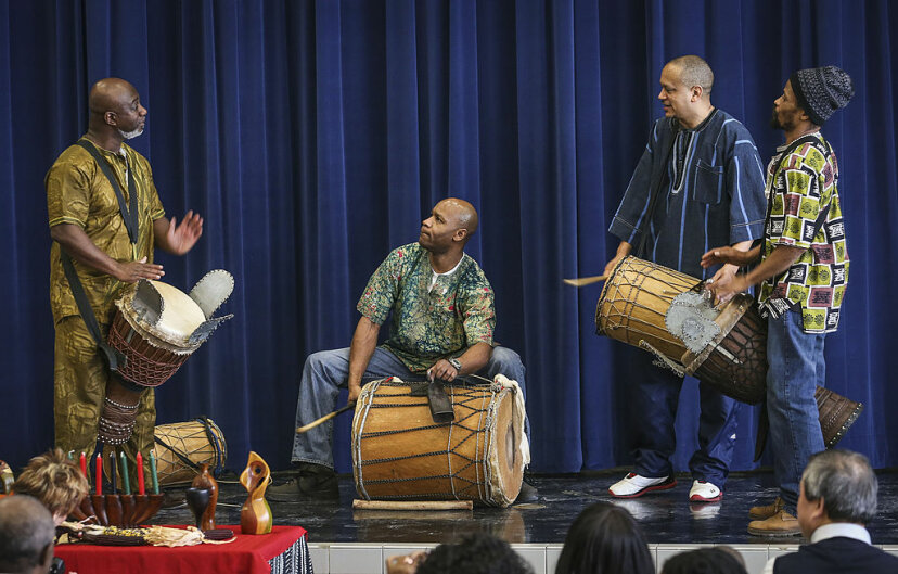 Kwanzaa drummers
