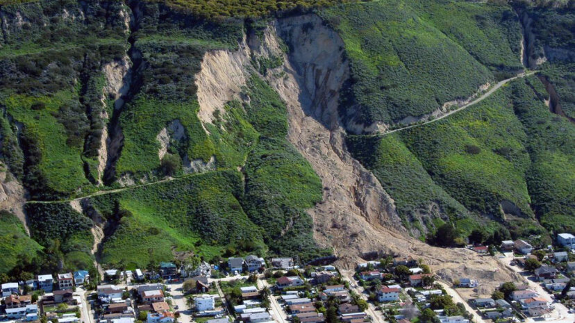 landslide California