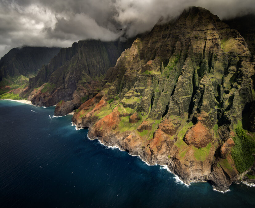 Na Pali coast in Kauai, Hawaii