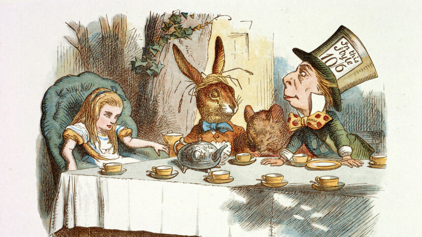 Alice, the March Hare, the Dormouse and the Mad Hatter