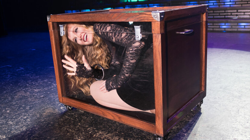 Hannah Lynne Wagster locked in box