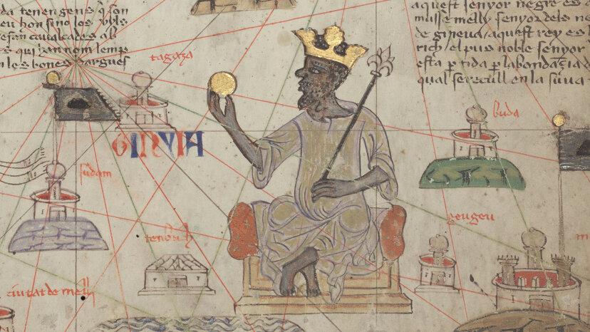 Catalan Atlas Sheet 6 showing Mansa Musa