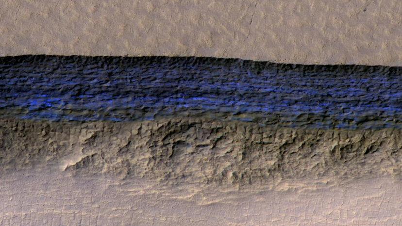 Martian water ice