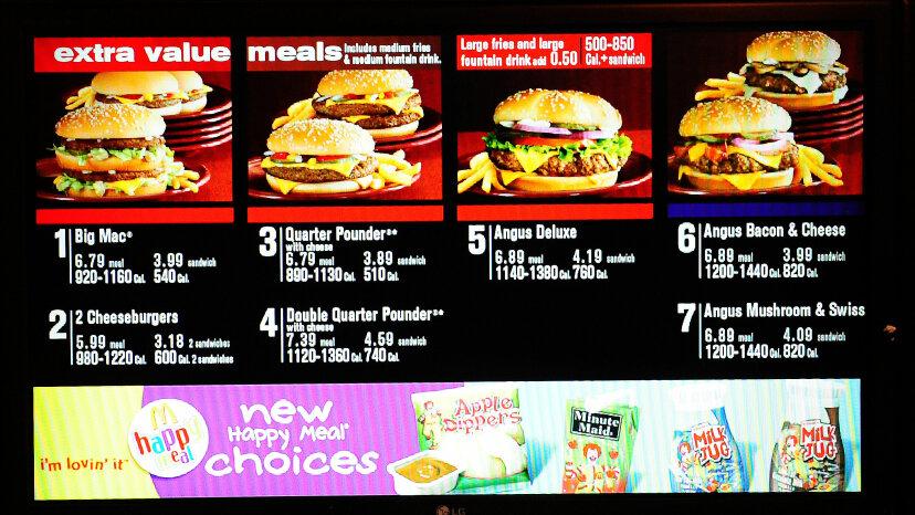 レストランメニューの栄養表示はカロリー消費を減らしますか?