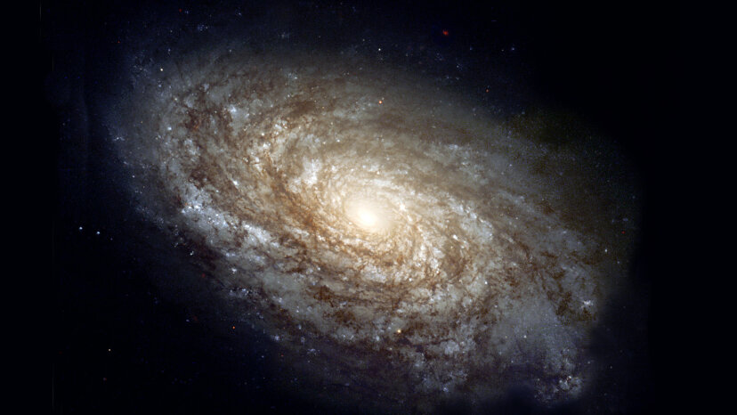 Hubble telescope view of galaxy
