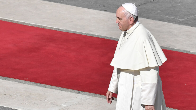 Pope Francis walking