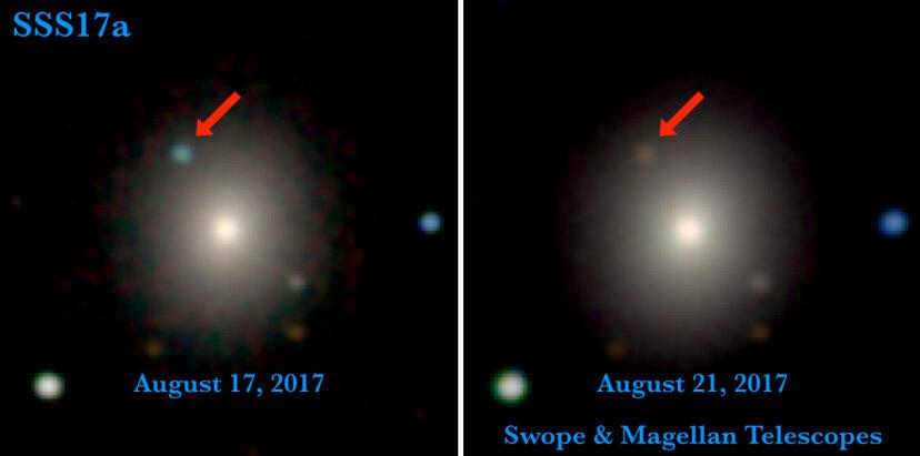 Neutron star merger in optical and near-infrared light