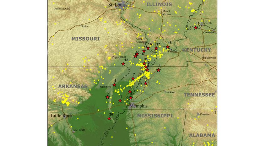 Terremotos en el Mississippi: la nueva zona sísmica de Madrid