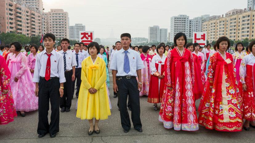 north Korean dancers