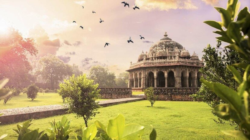 """The Tomb of Isa Khan was built in the late 1500s C.E., around the same time that Machiavelli published """"The Prince,"""" and 18 centuries after the """"Arthashastra"""" was written. SoumenNath/Getty Images"""
