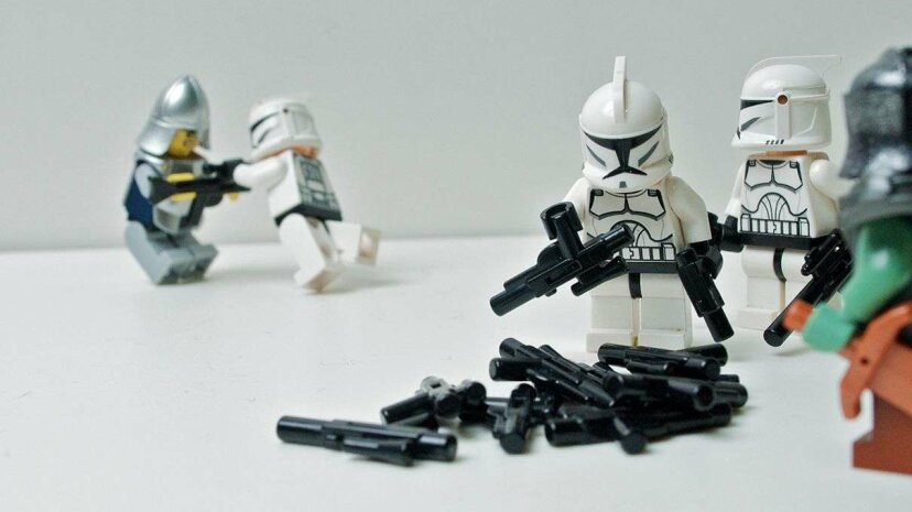 A new study has measured the increase in Lego weaponry and depictions of violence. Kevin Thai/Flickr