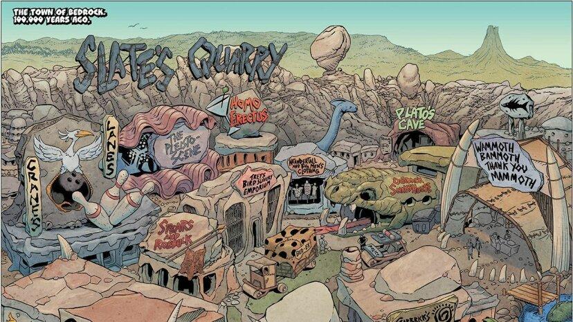 Los Picapiedra están vivos y bien y abordan problemas sociales en un nuevo cómic