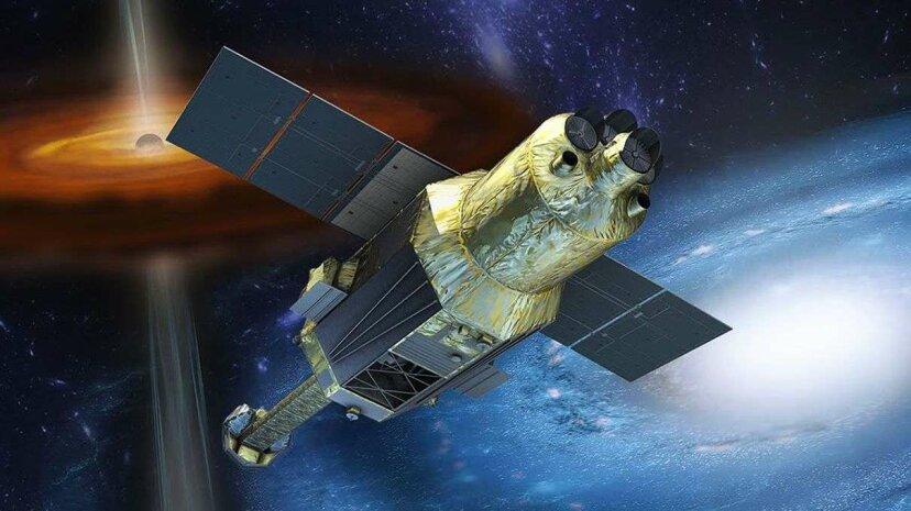 An artist's rendering of the Hitomi satellite. JAXA