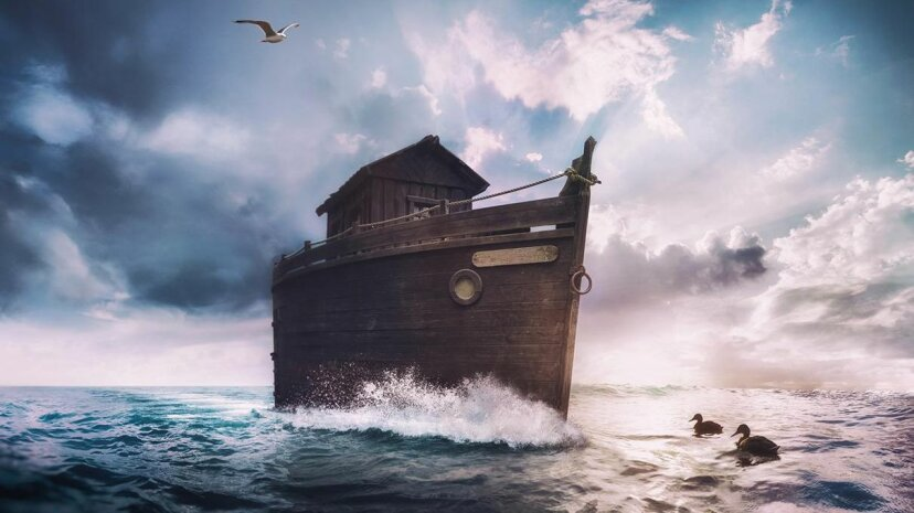 Multiple global traditions tell the story of a great flood, and the Noah myth is one of the most well known today. StockFinland/Getty Images
