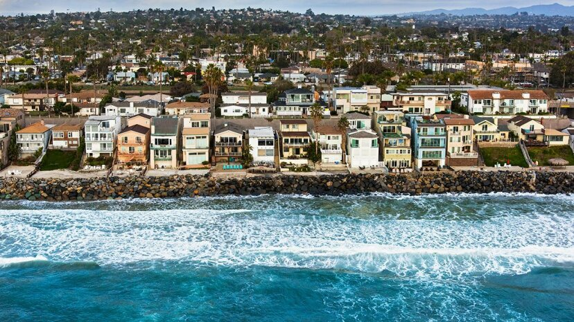Helicopter view of the southern California city of Oceanside Sandiegoa/Getty Images