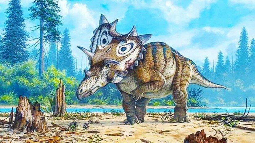 ユニークなスパイクシールドを備えた新しい恐竜種