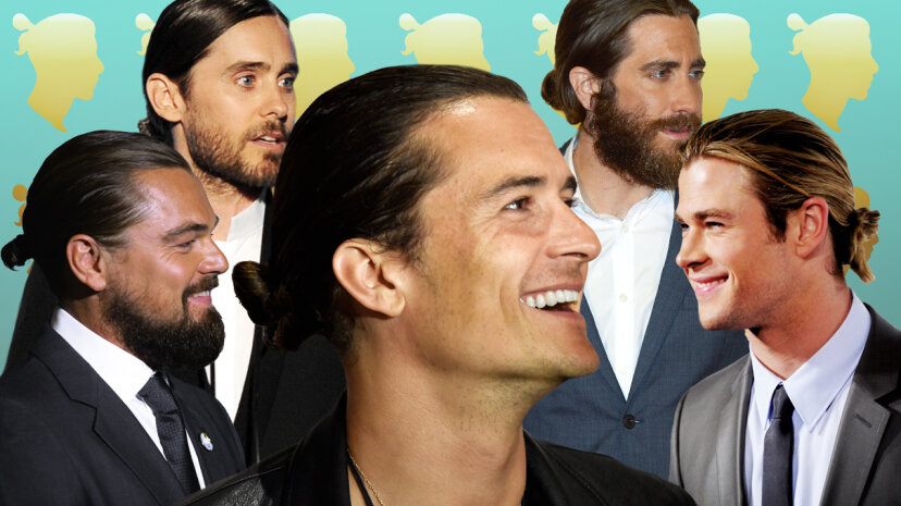 Standouts in the 'man bun' category include Orlando Bloom, Leonardo DiCaprio, Jared Leto, Jake Gyllenhaal and Chris Hemsworth. Andrew H. Walker/Frazer Harrison/Getty Images
