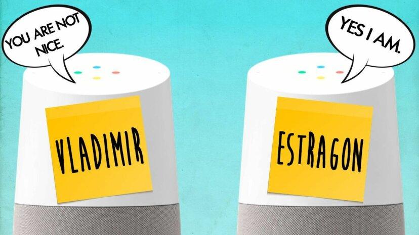 Google Home speakers named Vladimir and Estragon