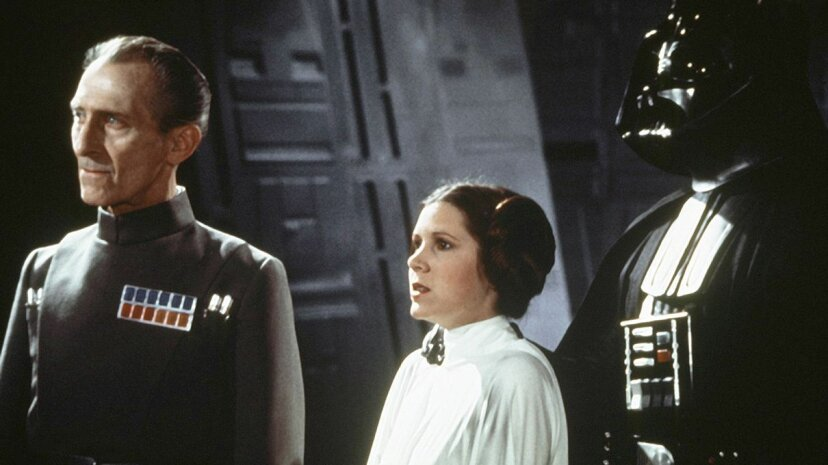 """Grand Moff Tarkin shows up in a pretty unexpected way in """"Rogue One."""" Sunset Boulevard/Corbis via Getty Images"""