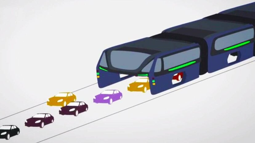 A Bus In China Can Actually Straddle Traffic Newsy
