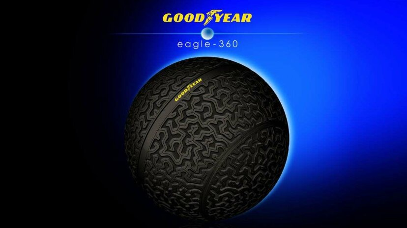 The Goodyear Eagle-360 has a unique shape that could provide additional safety and maneuverability to autonomous vehicles in the future. Goodyear