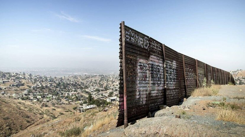 A gap in the fence near the U.S.-Mexico border overlooking Tijuana, Mexico. Charles Ommanney/Getty Images