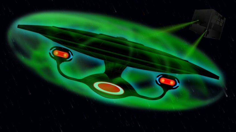 Illustration of a force field surrounding the U.S.S. Enterprise HowStuffWorks