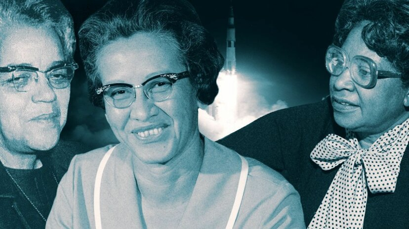 """Dorothy Vaughan, Katherine Johnson and Mary Jackson (L-R) were """"human computers"""" at NASA when the U.S. made some of its biggest strides in space. Bob Nye/NASA/Donaldson Collection/Smith Collection/Gado/Getty Images"""