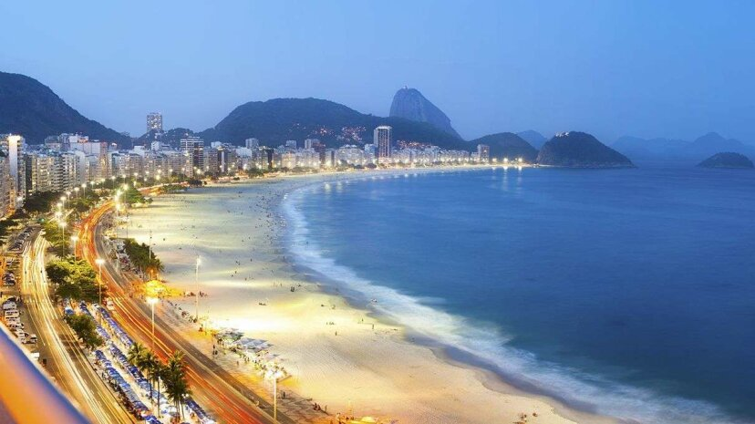 Sunset view of Rio de Janeiro's Copacabana Beach, where Olympic open-water swimming events are slated to occur Flavio Veloso/Getty