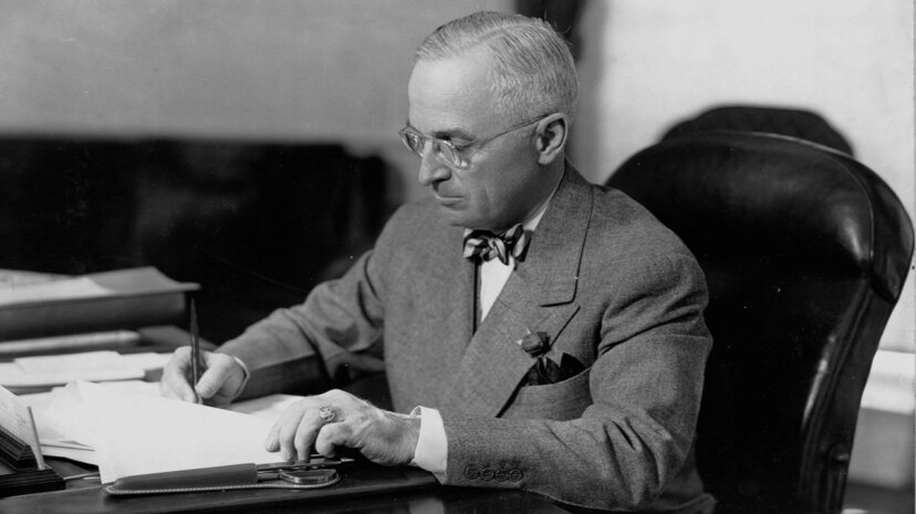President Harry S. Truman received the first ever President's Daily Brief on Feb. 15, 1946. In those days, it was called the Daily Summary. Library of Congress/Corbis/VCG via Getty Image