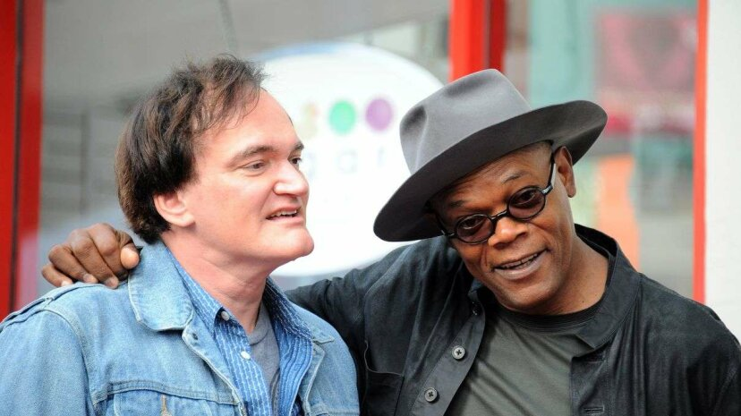 The films of writer-director Quentin Tarantino, left, are notoriously profane, with much of the vulgarity delivered by actor Samuel L. Jackson, right. Albert L. Ortega/Getty Images