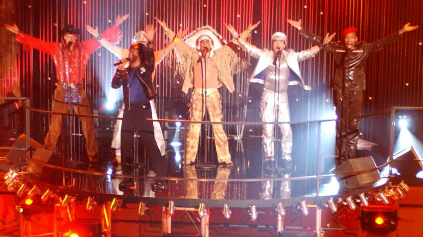 """Village People perform their smash hit """"Y.M.C.A."""" in 2002 for the ABC television special """"The DIsco Ball."""" Amanda Edwards/Redferns/Getty Images"""