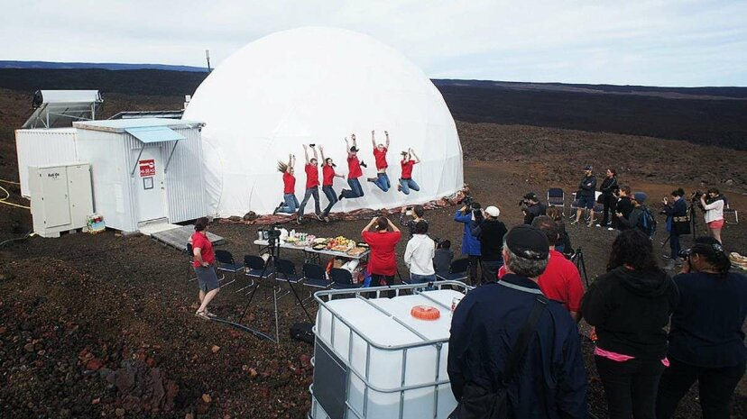 Scientists emerge from their time in isolation simulating the constraints of a Mars mission. HI-SEAS