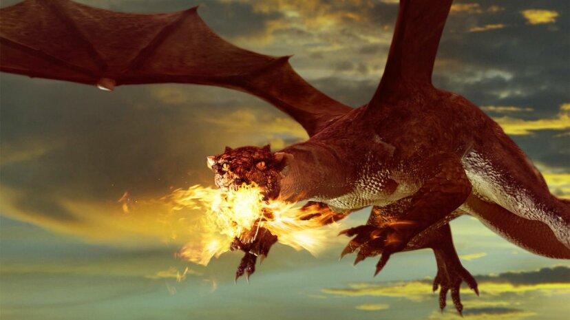 Wenn Drachen echt wären, könnten sie Feuer spucken?