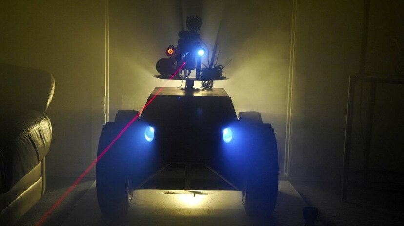 An artist's impression of what police robots may look like. Chris Rogers/Getty Images