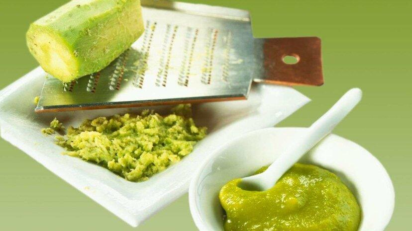 ¿Ese material verde en el restaurante de sushi? No es realmente wasabi