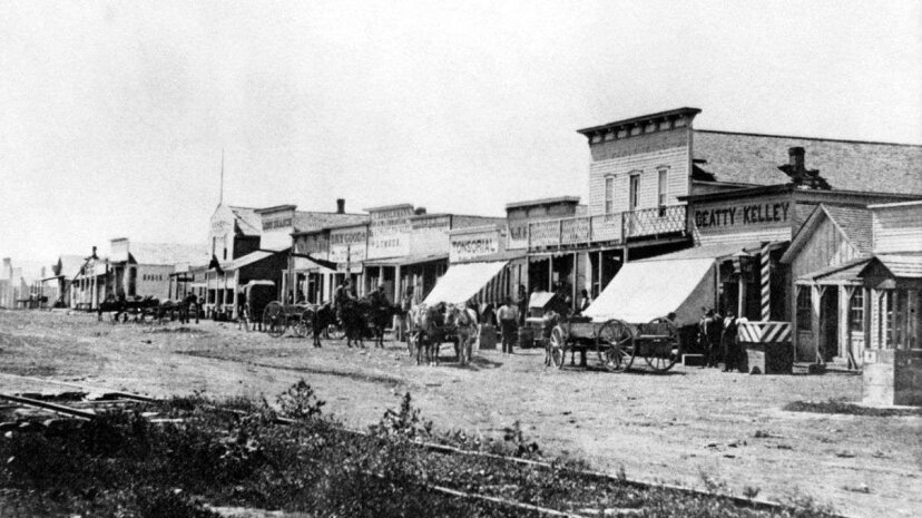 In the late 1800s, Dodge City, Kansas, was nowhere near as violent or dangerous as pop culture might imply. Corbis