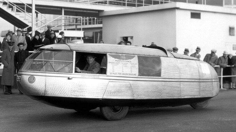 The Wall Street Journal takes Buckminster Fuller's dymaxion car for a test spin. Image: Chicago History Museum/Getty Images | Video: WSJnews