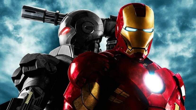 """Ironhead Studios, recently hired to help SpaceX design its spacesuits, is behind the look of the Iron Man suit seen on this poster from the film """"Iron Man 2."""" Marvel Entertainment"""