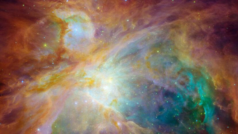オリオン大星雲は壮大な星の戦いのシーンです