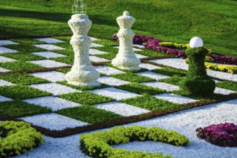 屋外チェス盤の作り方