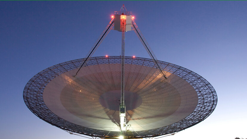 The Parkes telescope in Australia
